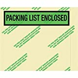 Boxes Fast BFPQGREEN12 Environmental Packing List Enclosed Envelopes, Load Capacity, 4.5'' Length, 5width, Thick, green (Pack of 1000)