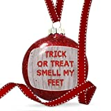 Christmas Decoration Trick or Treat Smell My Feet Halloween Bloody Wall Ornament