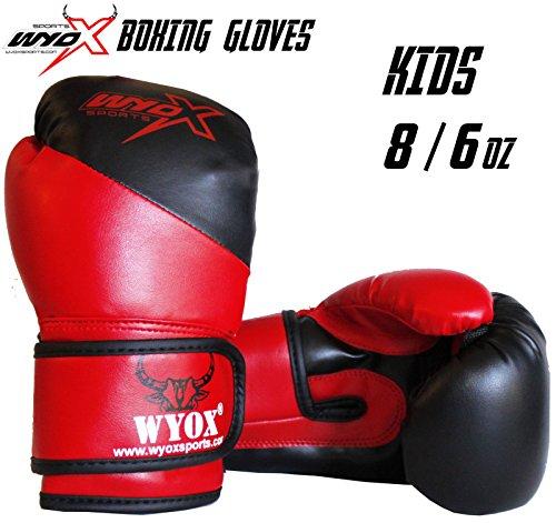 (Wyox Kids Boxing Gloves Junior Training 6 8 oz Children Age 6-14 USA (8 oz))