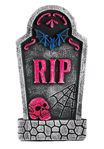 R.I.P. Bat Tombstone Black Light Decorative Halloween Yard Sign]()