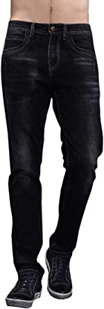 Relaxed Pants Regular Fit Super Stretch Trousers with 5-Pockets Port/&lotus Mens Loose-Fit Jeans