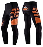 Sponeed Bicycle Pants for Men Bike Tights Gel Padded Cycle Leggings Windproof Ourdoor Biking Clothes Asian XL/ US L Orange