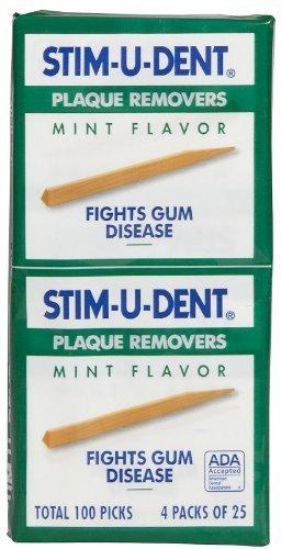 Natural Dentist - Natural Dentist Stim U Dent Original Plaque Removers Mint 100 Toothpicks (Pack of 12) - Pack Of 12
