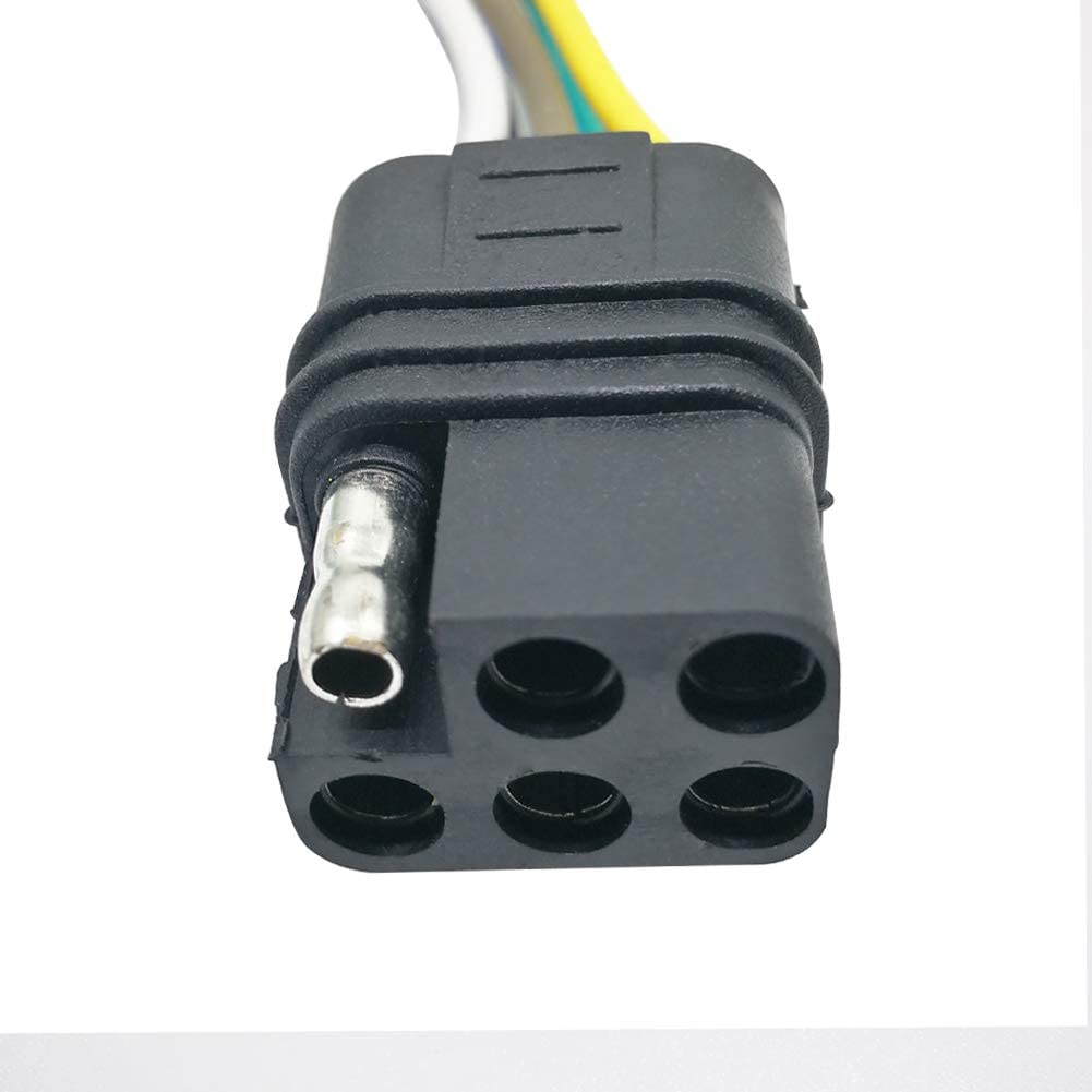 CARROFIX 6 Way Square Trailer Wiring Extension Loop 6 Pin 18-Gauge 36 Male and Female Ends Connector