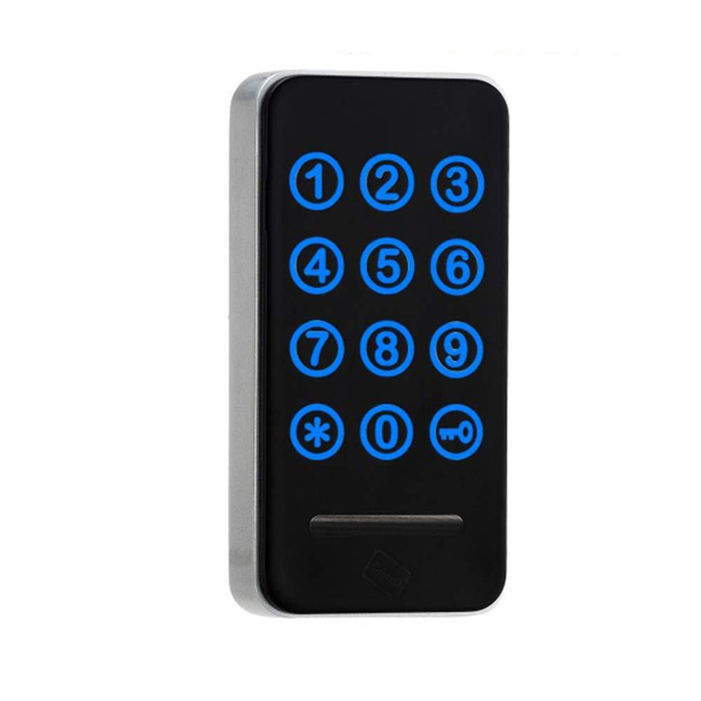 HWMATE Electronic Cabinet Lock Keyless Digital Touch Keypad Lock Password & Wristband Entry for Drawer Locker Storage Box