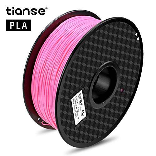 TIANSE Pink 3D Filament PLA 1.75mm 1KG Spool, Dimensional Accuracy +/- 0.03 mm,Neon Pink