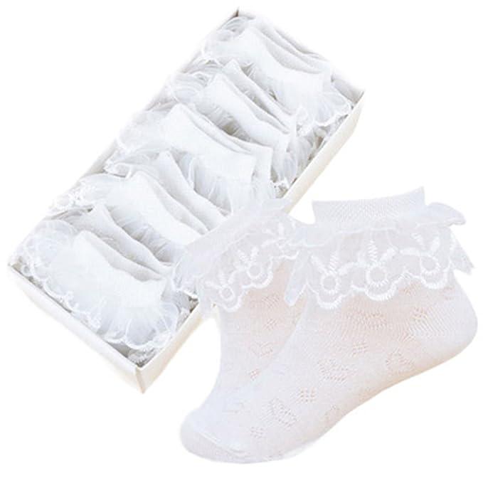 KiwiTwo 5 Pareja calcetines del cordón del verano de algodón fino calcetines del cordón de la