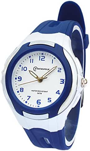 AZLAND Analog Quartz Digital Watches for Kids Boys Girls,Dark Blue