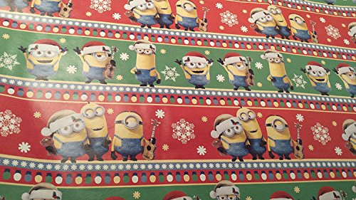 [Christmas Wrapping Despicable Me Minions Holiday Paper Gift Greetings 2 Roll Design Festive Wrap Red] (Despicable Me Costume Walmart)
