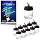 10 AIRBRUSH PaintKeepers Siphon Jar Adapter CAPS for Master Badger Paasche Iwata