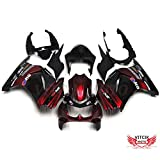 VITCIK (Fairing Kits Fit for Kawasaki EX250R Ninja 250 EX-250R ZX250 2008 2009 2010 2011 2012) Plastic ABS Injection Mold Complete Motorcycle Body Aftermarket Bodywork Frame (Red & Black) A025