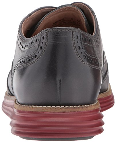 Cole Haan Mens O. Original Grand Short Wing Ox II Oxford Grey Pinstripe/Sun Dried Tomato g9zdcvLW