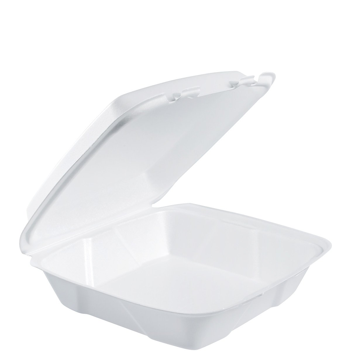 DART - DRC90HT1R Dart 90HT1R Lg Foam Hinged Container, 9 in (Case of 200),White