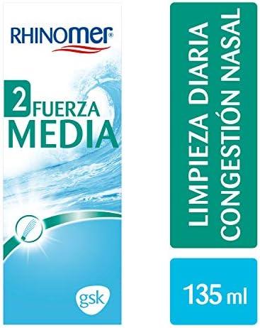Rhinomer - Spray nasal 100% agua de mar, fuerza media 2, para ...