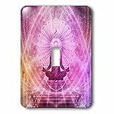 3dRose lsp_252122_1 Purple Yoga Meditation Buddha Style Single Toggle Switch