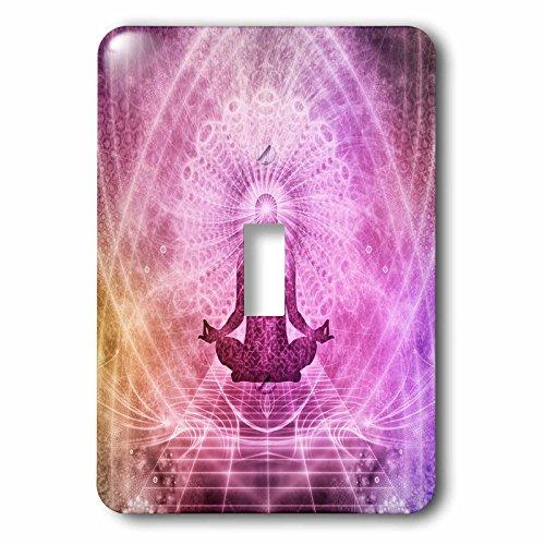 3dRose lsp_252122_1 Purple Yoga Meditation Buddha Style Single Toggle Switch by 3dRose