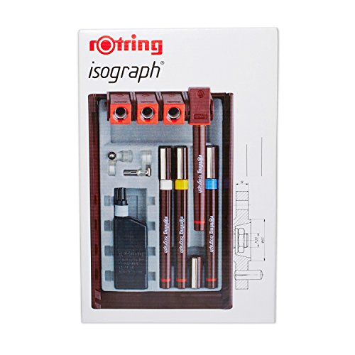 rOtring Isograph Technical Drawing Pens, Set, 4-Pen Set (.20-.50 mm) by Rotring
