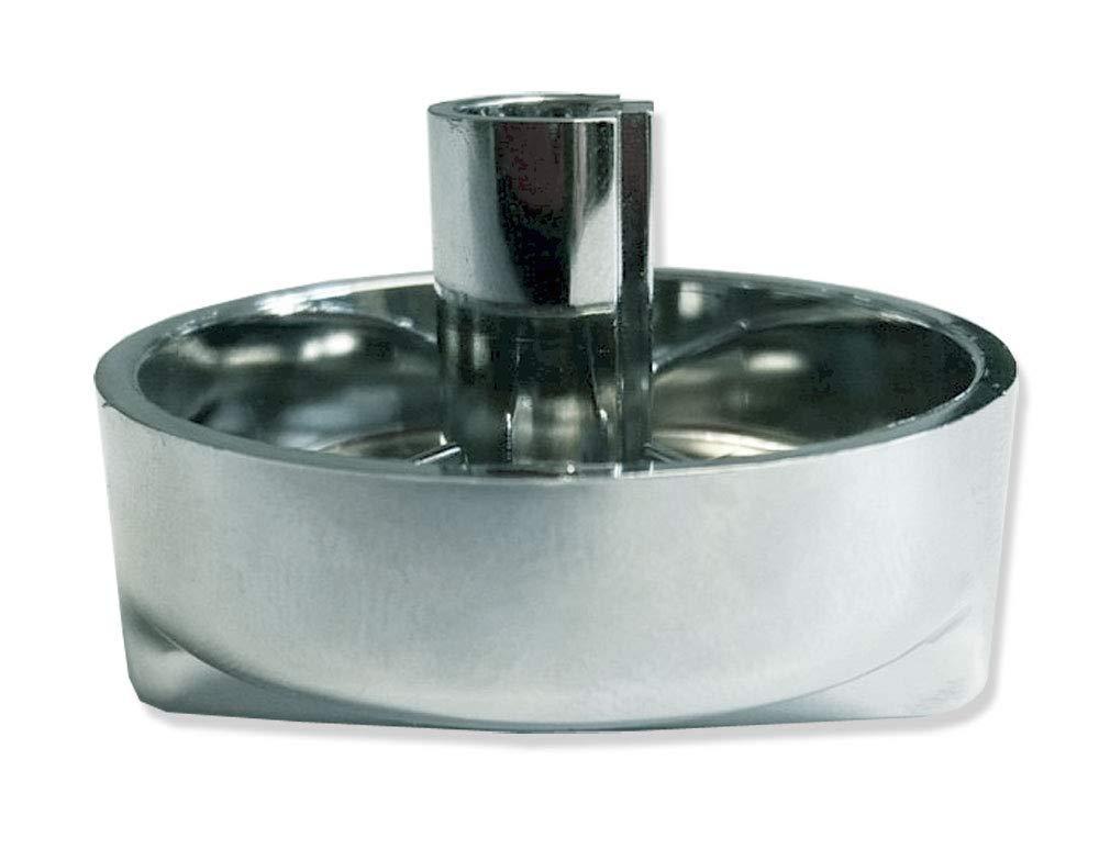 Franke Capuchon rotatif rond en plastique aspect chrom/é 44 mm x 30 mm