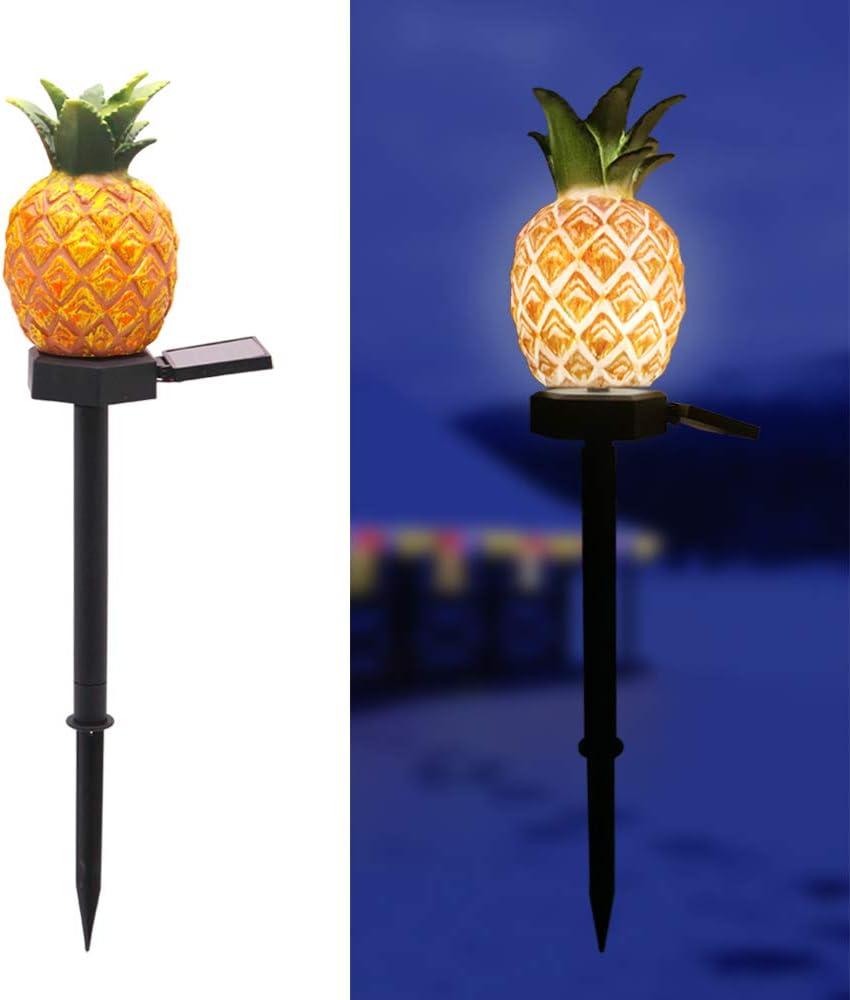 Ratopo Solar Garden Pineapple Stake Light Waterproof Decorative Sloalr Light for Garden Yard Pathway