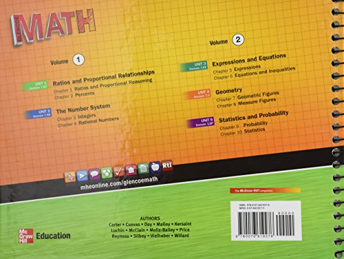 Glencoe Math, Course 2, Vol  1