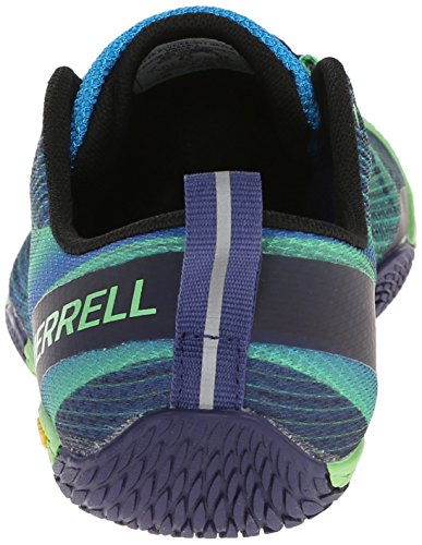Merrell Men's Vapor Glove 2 Trail Running Shoe, Racer Blue/Bright Green, 8 M US by Merrell (Image #2)