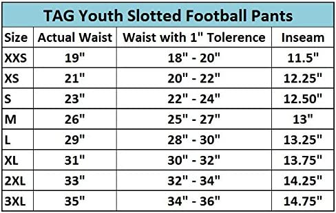 TAG Jugend Schlitz Football Hose