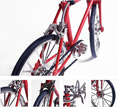 Designever Finger Bike Bicycle Indoor Interior Decoration Accessory Miniature (Red) by Designever (Image #3)