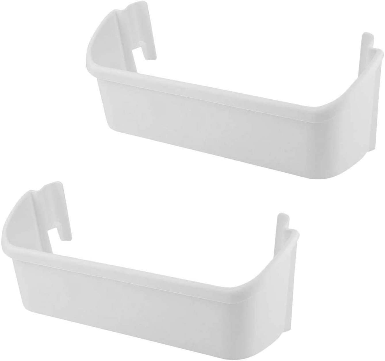 Siwdoy (Pack of 2) 240323001 Refrigerator Door Bin Compatible with Frigidaire Electrolux Refrigerator Repalce 240323007 AP2115741 PS429724, White