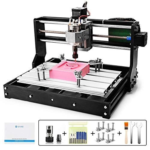 (Genmitsu CNC 3018-PRO Router Kit GRBL Control 3 Axis Plastic Acrylic PCB PVC Wood Carving Milling Engraving Machine, XYZ Working Area 300x180x45mm)
