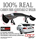 ICBEAMER Style Carbon Fiber GT Style 57 inch Universal Racing Rear/Back Trunk Spoiler/Wing