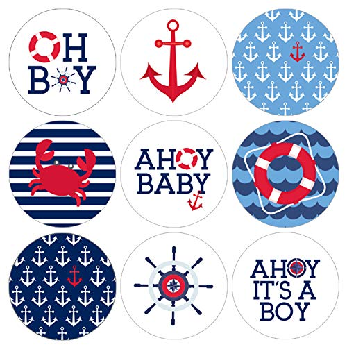 Ahoy It's a Boy Baby Shower Favor Labels - 180 Stickers]()
