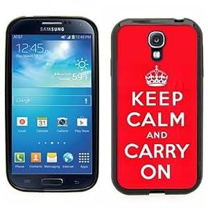 Pink Ladoo? Samsung Galaxy S4 Black Case - Keep Calm and Carry On red original wangjiang maoyi