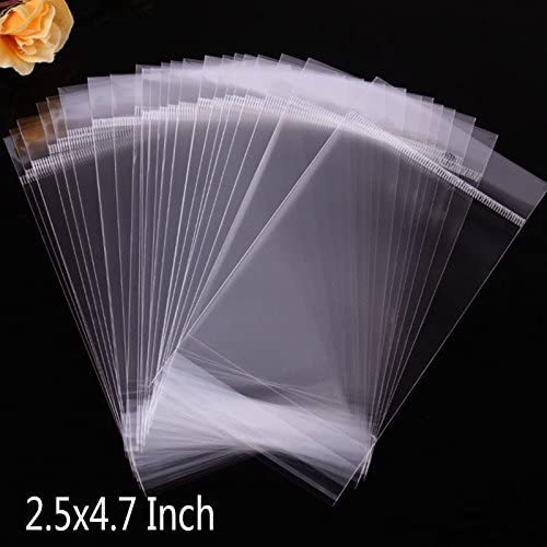 Blesiya 50x Clear Plastic Packaging Bag with  Hole Electronic Accessory