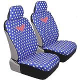 Wonder Woman Car Seat Covers - Red White & Blue w/Stars - Modern