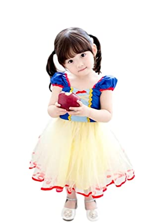 b2cd448a27677 (eones) 白雪姫 子供用 コスチューム ハロウィン クリスマス パーティー コスプレ衣装 (130cm)
