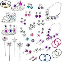[Patrocinado] Princess Jewelry Dress Up Accessories Toy Playset for Girls (50 pcs)