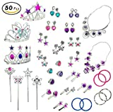 Kyпить Princess Jewelry Dress Up Accessories Toy Playset for Girls (50 pcs) на Amazon.com