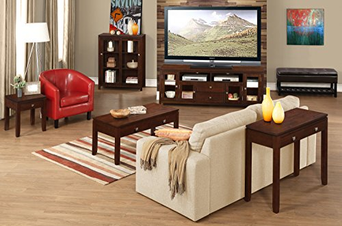 Simpli Home Cosmopolitan Solid Wood End Table, Coffee Brown by Simpli Home (Image #6)