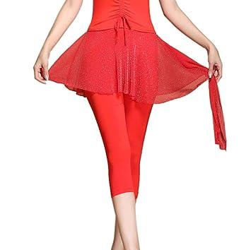 con Falda Legging para Yoga Polainas atléticos Danza Tenis Suave ...