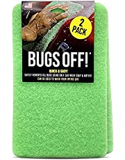 """Bug and Tar Remover for Cars from Luxe Shield - (2pk Jumbo 6"""" x 9.5"""") - Durable & Reusable Car Wash Sponge - Bug Remover for Car Detailing - Great for Everyday Use"""