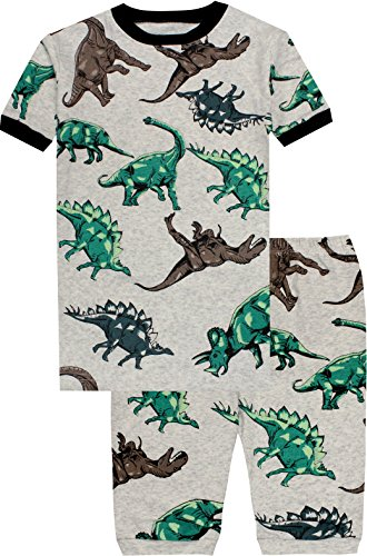 Boys Dinosaurs Pajamas Summer Children Cartoon Clothes Kids 2 Pieces Short Set Size 5 Years by CoralBee (Image #1)