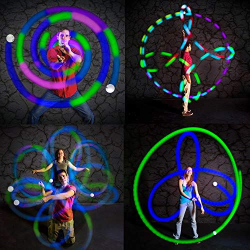 Fun In Motion - Spinballs - Flow Poi Balls - Spinning LED Light Toy - Light Up Spinners - Pair by SPIN BALLS (Image #4)
