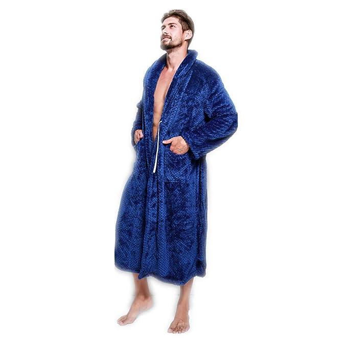 buy online 1da95 4e80c XGTsg Männer - Bademantel Lovers'Nightgowns Verlängert Und ...