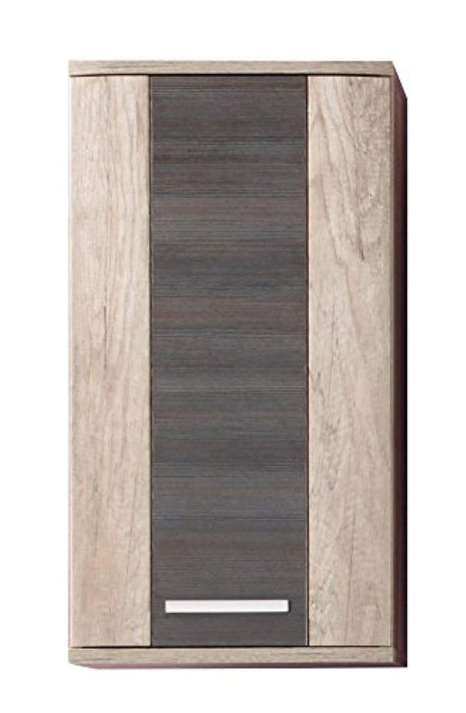 Furnline 1408-501-58 Star Monument Oak Bathroom Wall Mounted Cupboard, Brown