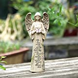 Ivy Home Standing Angel with Butterfly Garden