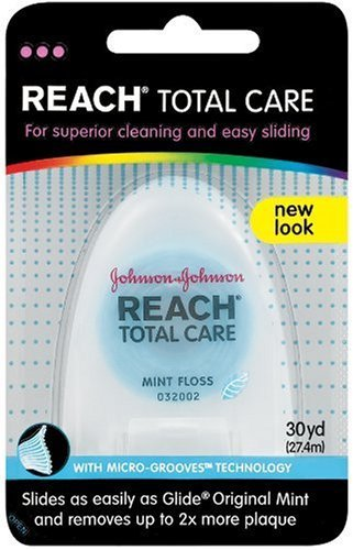 Reach Total Care Floss, Mint, 30-Yard Dispensers (Pack of 12)