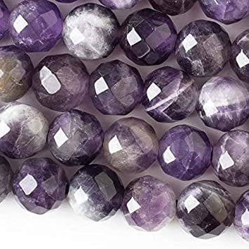 Rondelle LARGE HOLE Beads -5x8mm Amethyst 2.5mm Hole 8 Inch Strand