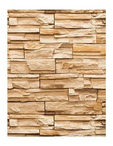 York Wallcoverings RN1042 Modern Rustic Travertine Wallpaper (Fireplace Wallpaper)