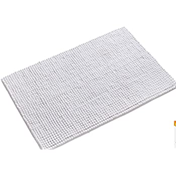 this item wendana bathroom rugs non slip fluffy microfiber shag bath mats water absorbing floor carpet bath rugs for bathroom 20 x 32 white - Bathroom Carpet