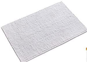 wendana bathroom rugs non slip fluffy microfiber shag bath mats water absorbing floor carpet bath rugs for bathroom 20 x 32 white - Bathroom Carpet